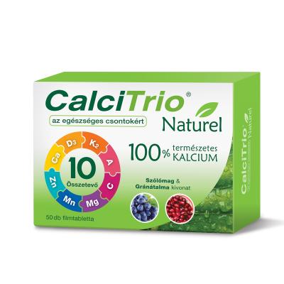 CalciTrio Naturel filmtabletta, 50X kiszerelés