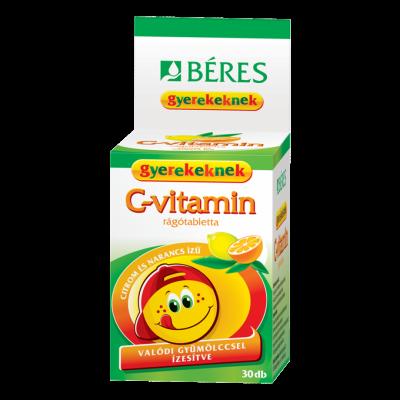 Béres Egészségtár C-vitamin rágótabletta gyermekeknek